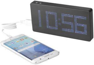 Išorinė baterija su laikrodžiu ir logotipu multidora